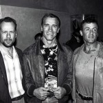 Bruce Willis, Arnold Schwarzenegger and Sly