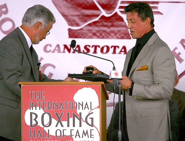 Stallone at International Boxing Hall of Fame Induction 2011