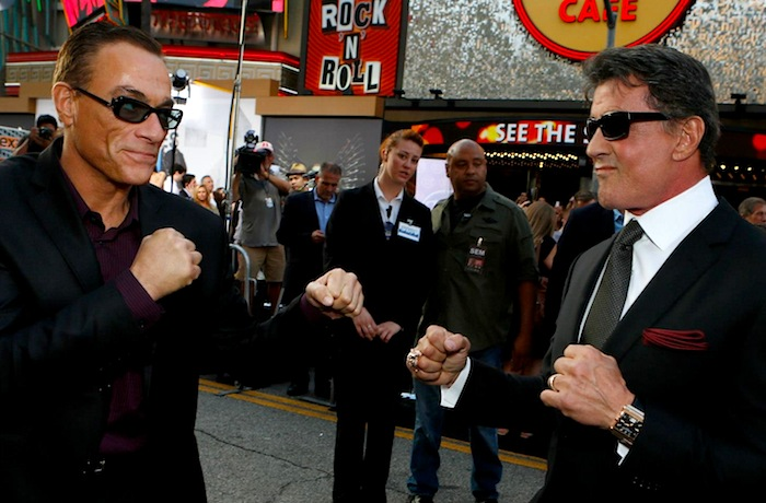 Sly and Jean-Claude - Expendables 2 premiere