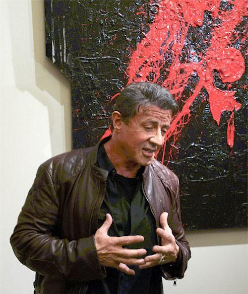 Stallone unveils art