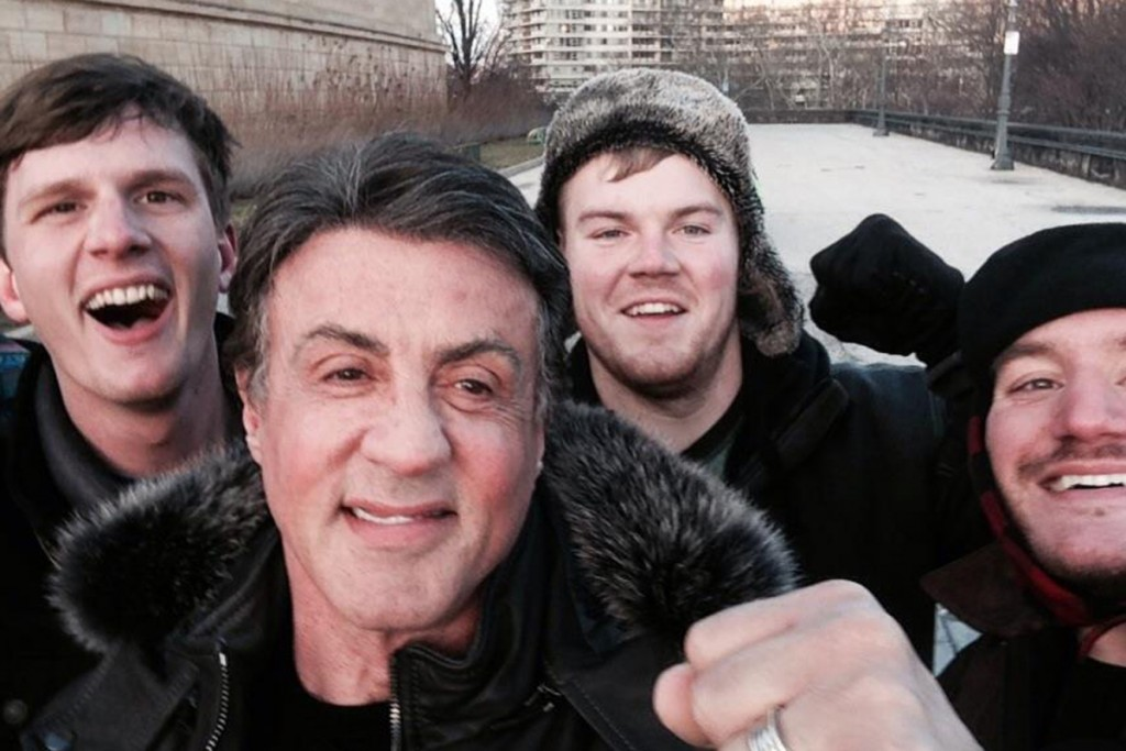 Stallone selfie with fans